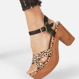 N I B || Cheetah Print Heeled Sandles